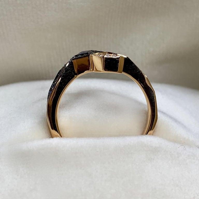 Joke Quick 18K Rose Gold Sapphire and Diamond Toi et Moi ring For Sale 5