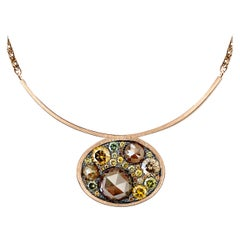 Joke Quick 4.49 Carat Brilliant and Rose-Cut Diamond Pendant with Necklace