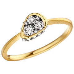 Joke Quick Inverted White Diamond Edge White Diamond Gold Innervisions Ring