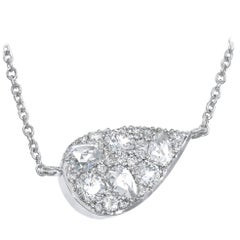 Joke Quick White Diamond Floating Starstruck White Gold Necklace