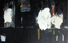 Black and white - XXi century, Oil abstraction painting