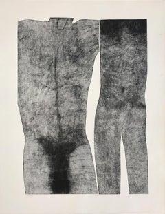 Human 6 - Contemporary Print, Figurative, Couple, Black & white