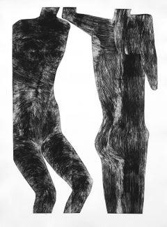 Human 7 - Contemporary Print, Figurative, Couple, Black & white