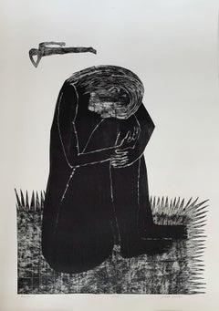 Human - Contemporary Print, Figurative, Couple, Black & white