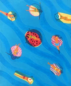 Sea 11 - 21st Century, Contemporary Oil Painting, Figurative, Minimalistic