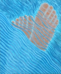 Sea 6 - 21st Century, Contemporary Oil Painting, Figurative, Minimalistic