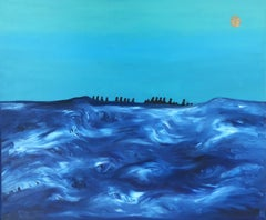 Sea 8 - 21st Century, Contemporary Oil Painting, Figurative, Minimalistic