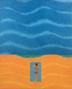 Sea 9 - 21st Century, Contemporary Oil Painting, Figurative, Minimalistic