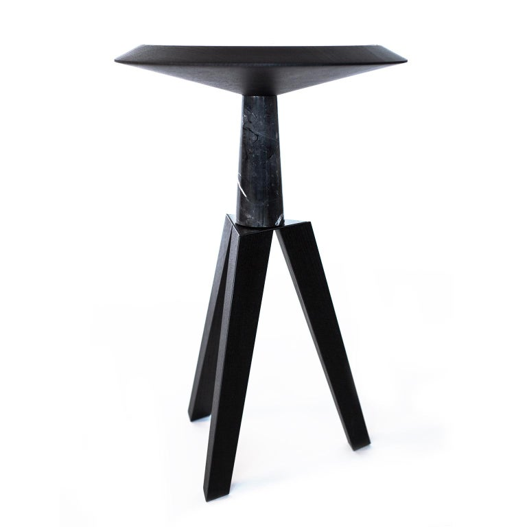 Jole Contemporary Coffee and Cocktail Table in Marble and Oakwood 2