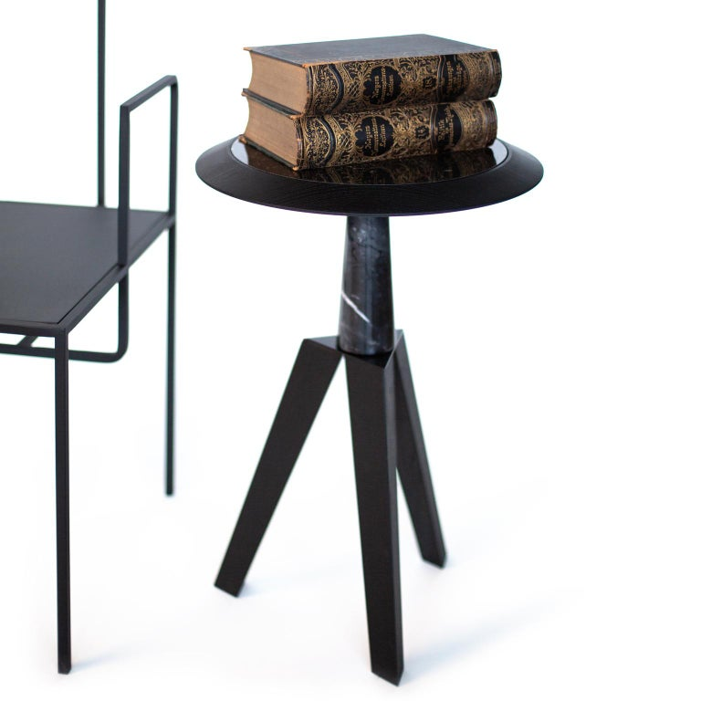 Jole Contemporary Coffee and Cocktail Table in Marble and Oakwood 4