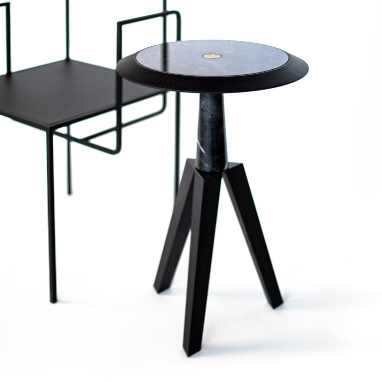 Jole Contemporary Coffee and Cocktail Table in Marble and Oakwood 5