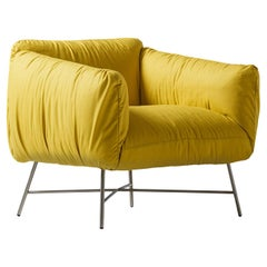 Jolie Yellow Armchair by Angeletti Ruzza