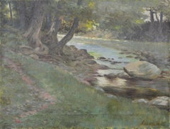 Early 20th Century Calming Stream Landscape