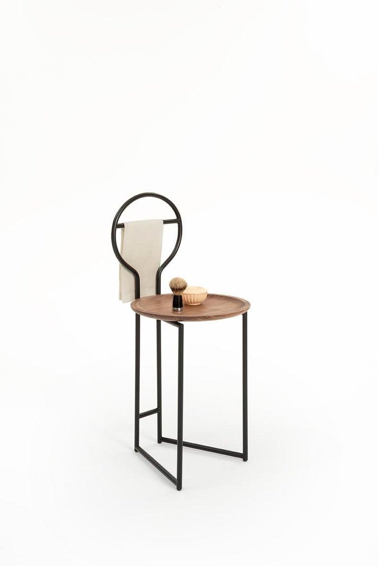 Joly Chairdrobe, High Back, Black Structure, Mint Green Fine Italian Velvet For Sale 10