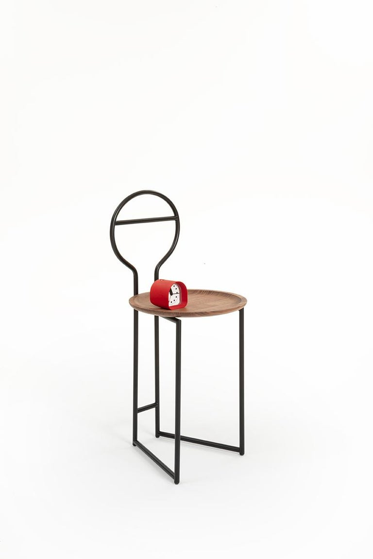 Joly Chairdrobe, High Back, Black Structure, Red Top Quality Italian Velvet For Sale 11