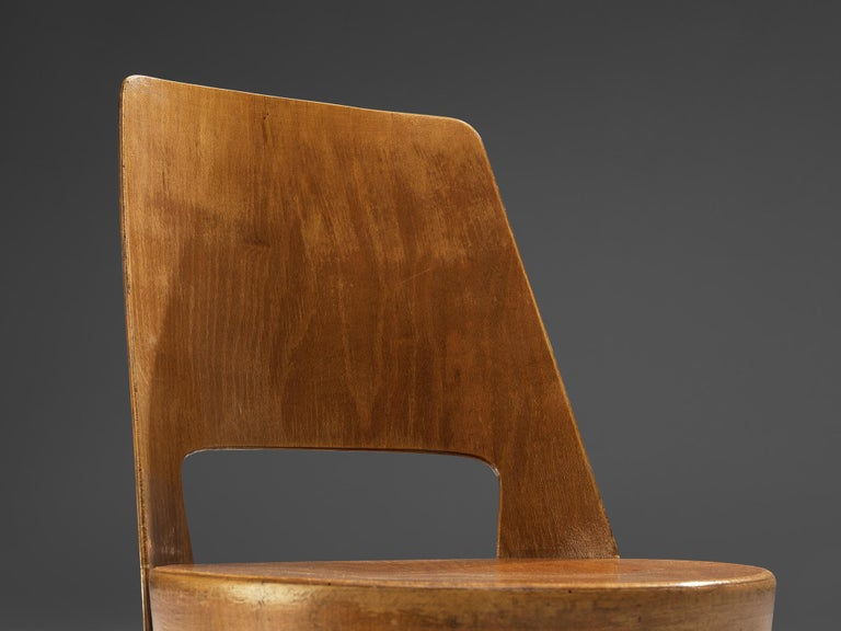 Jomaine Baumann 'Mondor' Dining Chairs in Plywood For Sale 3