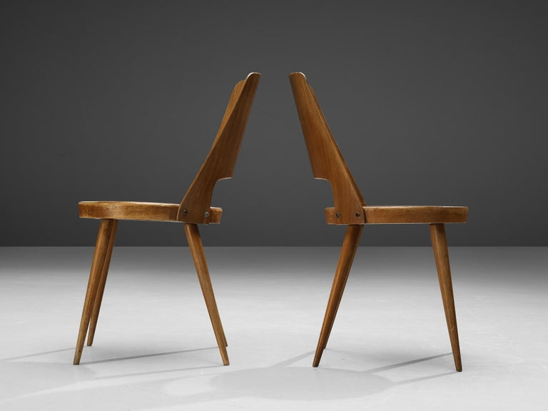 Wood Jomaine Baumann 'Mondor' Dining Chairs in Plywood For Sale