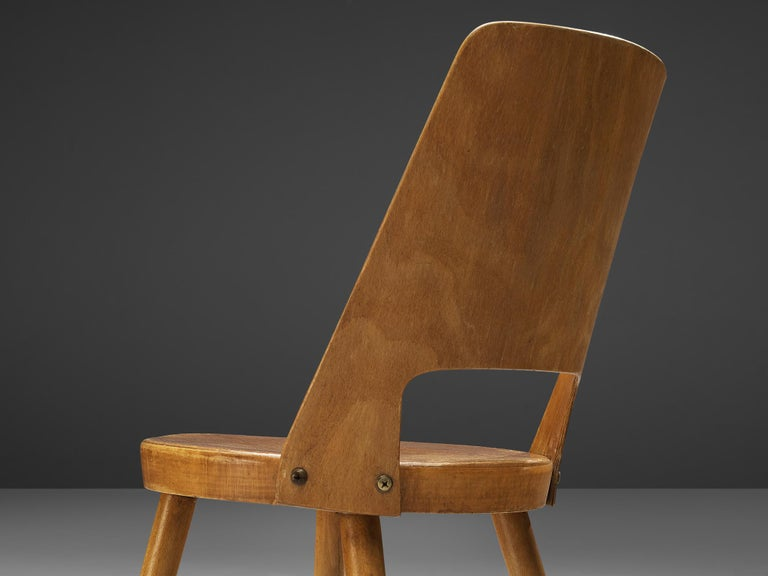 Jomaine Baumann 'Mondor' Dining Chairs in Plywood For Sale 1