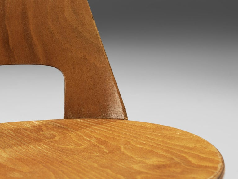 Jomaine Baumann 'Mondor' Dining Chairs in Plywood For Sale 2