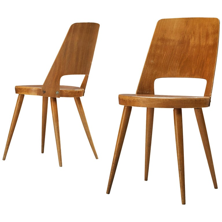 Jomaine Baumann 'Mondor' Dining Chairs in Plywood For Sale