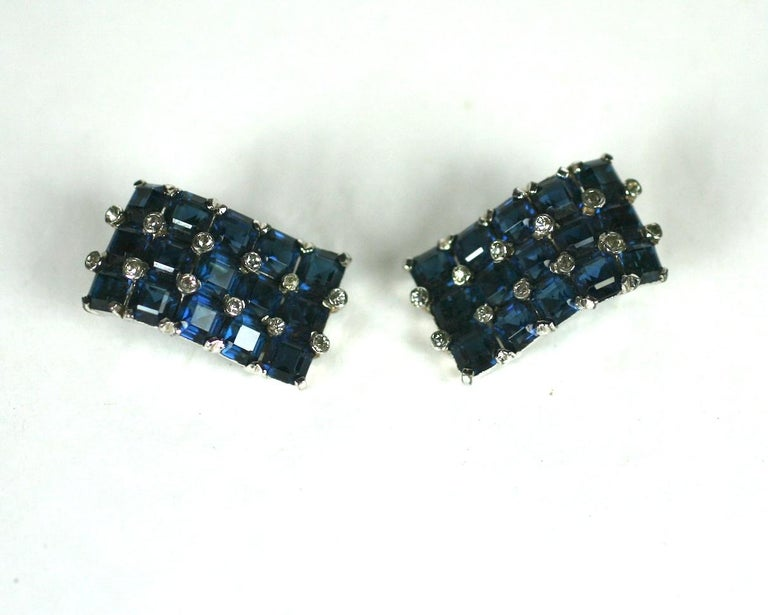 Art Deco Jomaz Invisibly Set Earclips For Sale