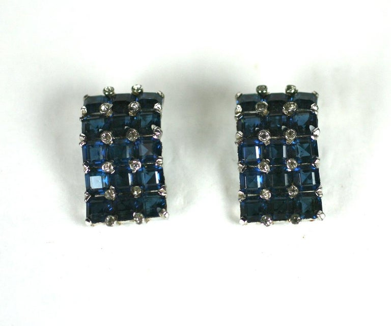 Jomaz Invisibly Set Earclips In Excellent Condition For Sale In Riverdale, NY