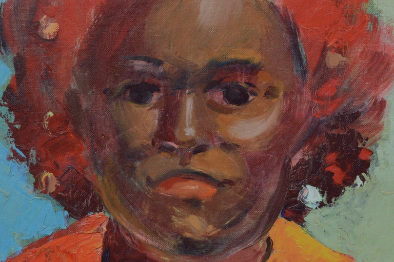 Portrait of an African American Woman 1967 - Painting by Jon Blanchette