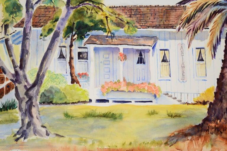 Quaint Little Antiques Barn  - Painting by Jon Blanchette