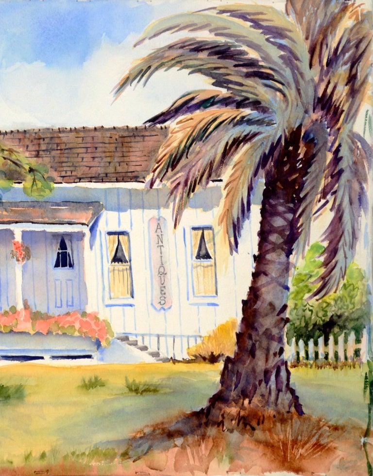 Quaint Little Antiques Barn  - American Impressionist Painting by Jon Blanchette