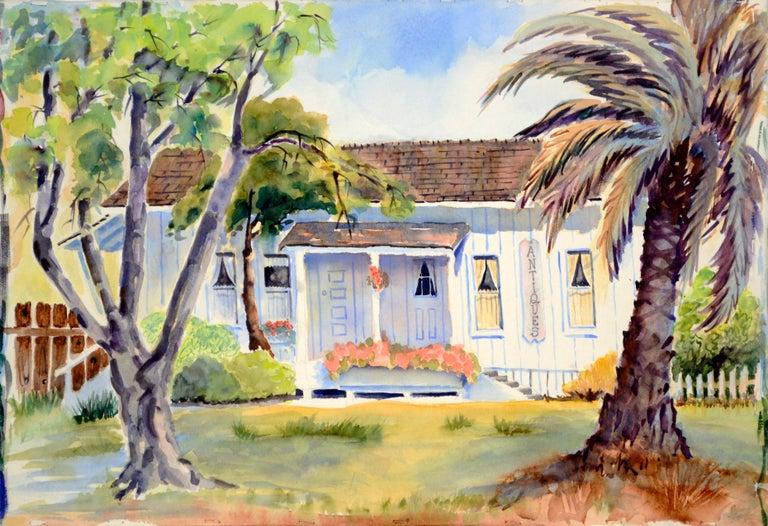 Jon Blanchette Landscape Painting - Quaint Little Antiques Barn