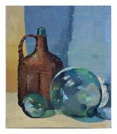 Still Life with Jug and Glass Floats