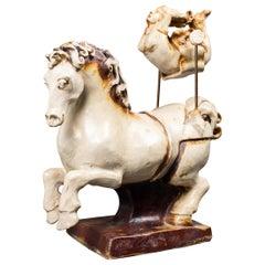 """Jon Carlos Lopez """"High Flyer"""" Art Ceramic Acrobat Sculpture"""