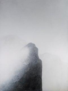 Black Mountains I - 21st Century, Contemporary, Painting, Mixed Media