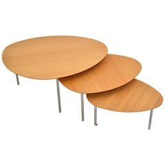 Jon Gasca Plywood Nesting Tables / Stacking Tables STUA Design Spain, Set of 3