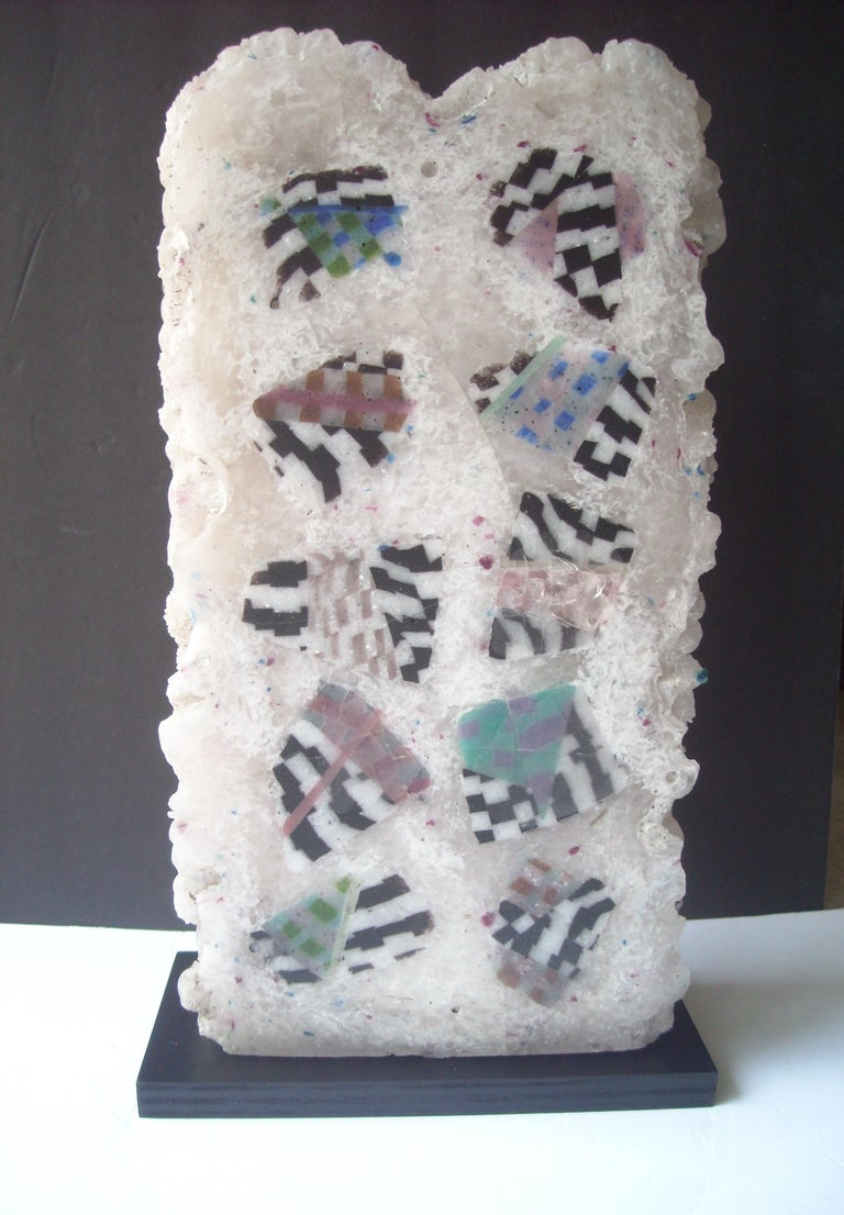 Post-Modern Jon Kuhn, Early and Large Abstract Glass Sculpture For Sale