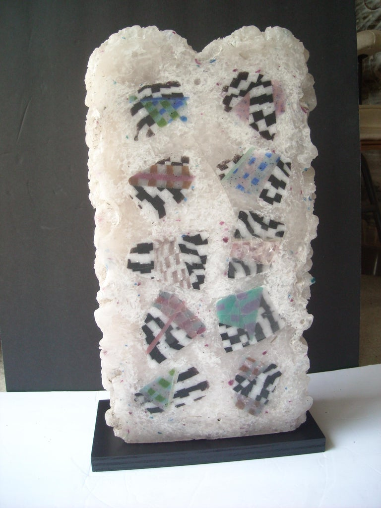 Jon Kuhn, Early and Large Abstract Glass Sculpture For Sale 1