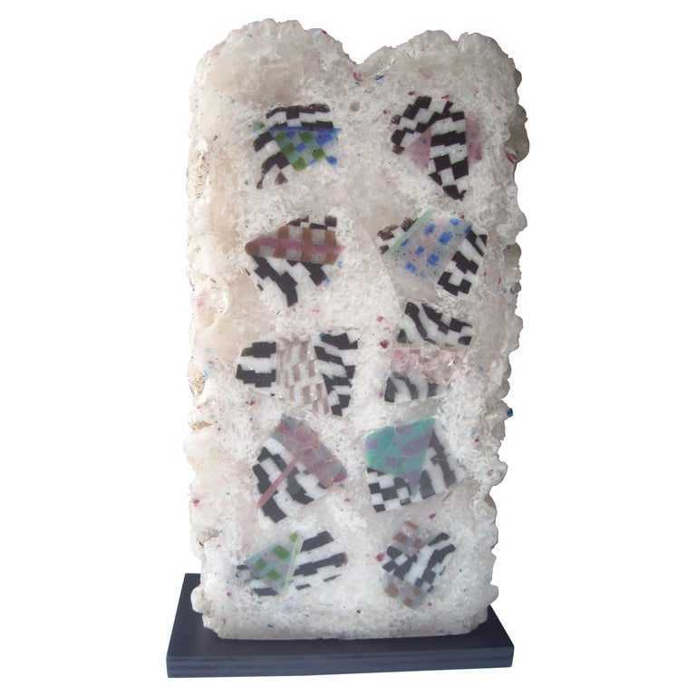 Jon Kuhn, Early and Large Abstract Glass Sculpture For Sale