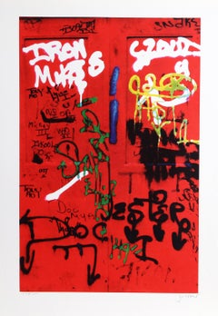 """""""Red Doc"""" from Faith of Graffiti, 1974, Serigraph by Jon Naar"""