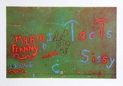 """Toots"" from Faith of Graffiti, 1974, Serigraph by Jon Naar"