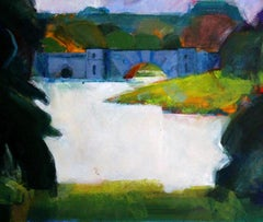 Blenheim - view of the bridge 4, original painting, painting for sale,