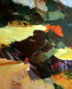 Coast - Racky beach, Jon Rowland, Abstract Landscape, Original Painting