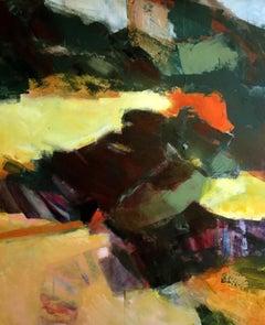 Coast - Racky beach, Jon Rowland, Abstract Landscape, Original Painting