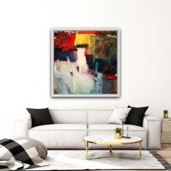 Jon ROwland, Chaumont #1, Original Abstract Painting, Bright Art, Statement Art