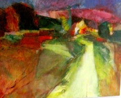 Provence - Entrance to the Village - abstract landscape