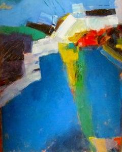 Seas of Pleasure – Blue Pool #7 , large abstract art painting,