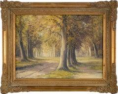 Mid Century Stately Oaks Landscape