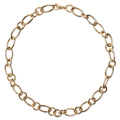 Jona 18 Karat Rose Gold Link Chain Necklace