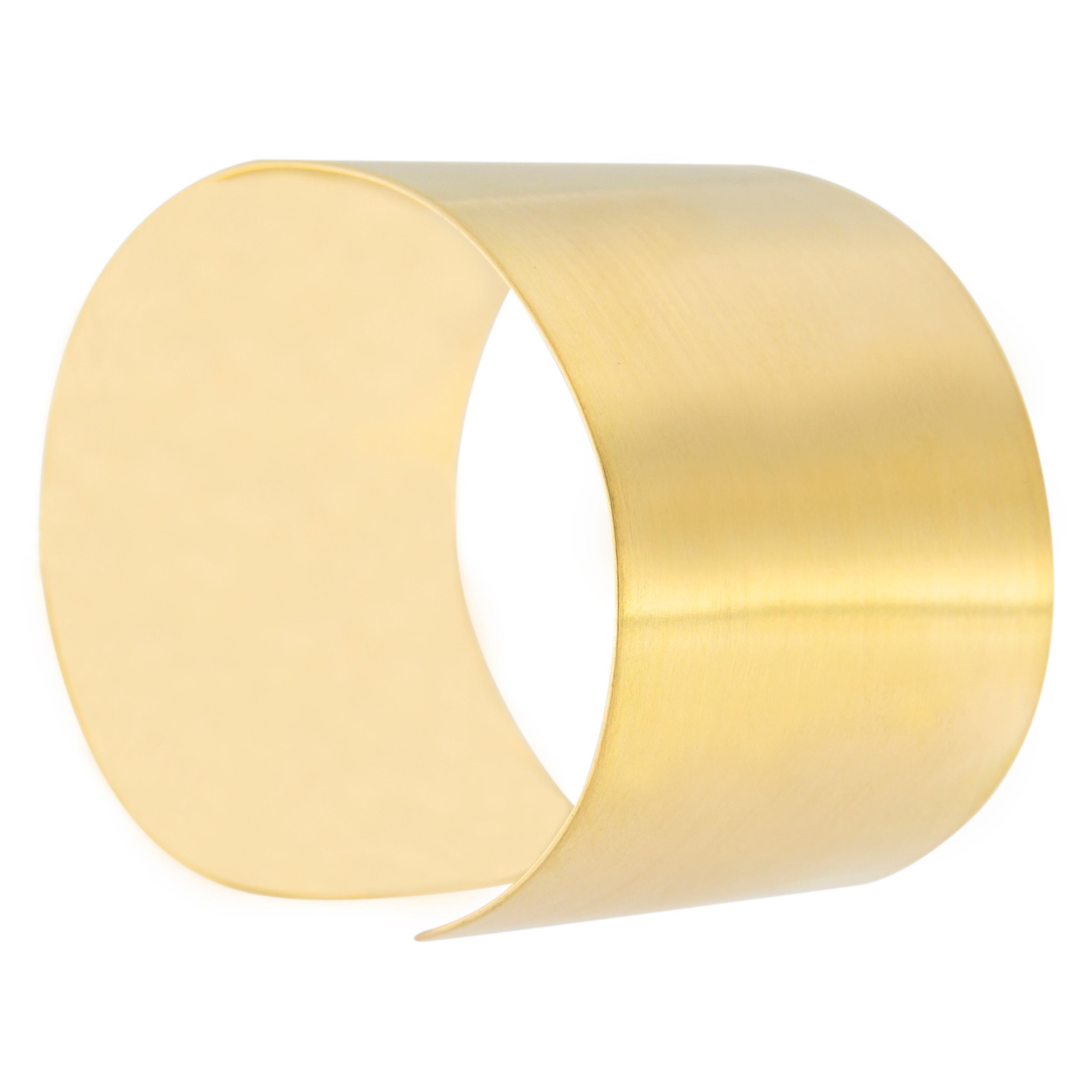 Alex Jona 18 Karat Satin Yellow Gold Cuff Bracelet