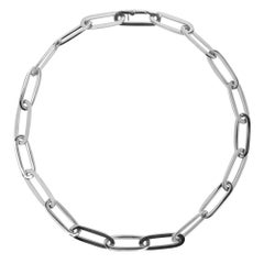 Jona 18 Karat White Gold Link Chain Necklace