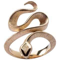 Jona 18 Karat Yellow Gold Coil Snake Ring